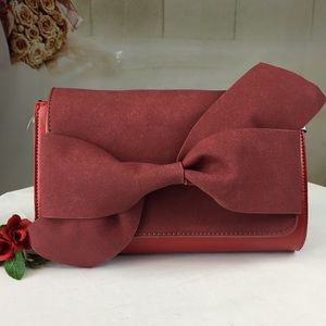 Red Crossbody or Clutch Small Bag